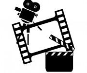Coloriage et dessins gratuit Cinéma  maternelle à imprimer