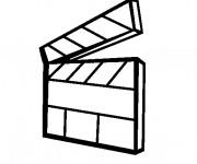 Coloriage et dessins gratuit Clap de cinéma à imprimer