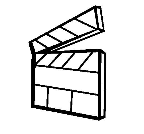 Coloriage et dessins gratuits Clap de cinéma à imprimer