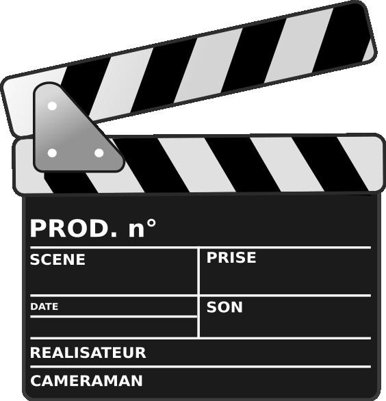Coloriage et dessins gratuits Clap de cinéma à découper à imprimer