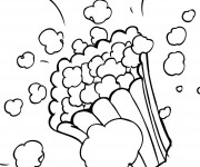 Coloriage et dessins gratuit Popcorn dans La salle de Cinéma à imprimer