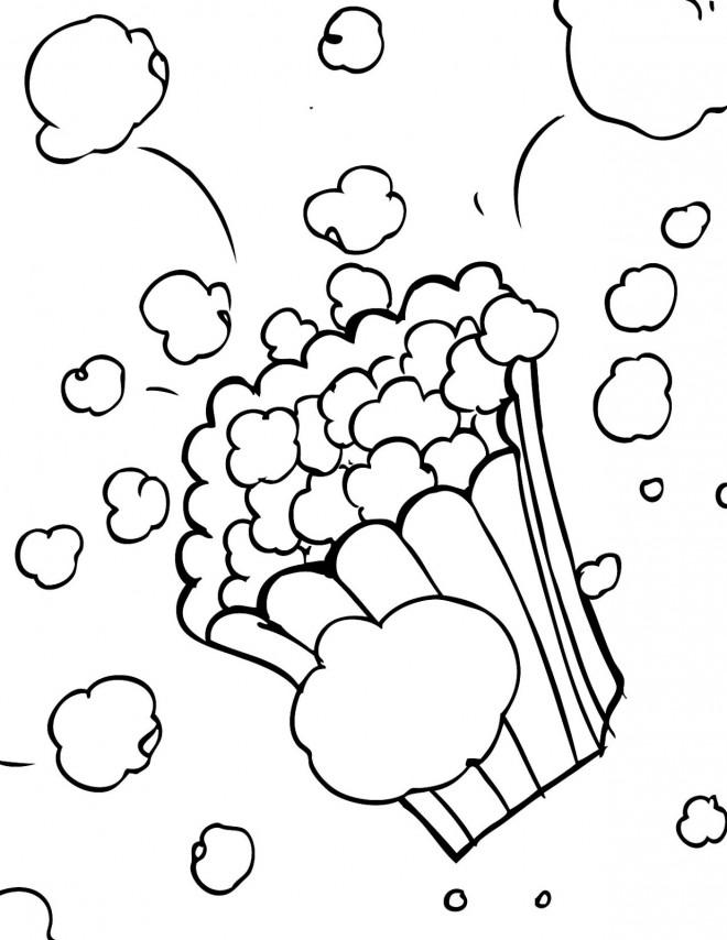 Coloriage et dessins gratuits Popcorn dans La salle de Cinéma à imprimer