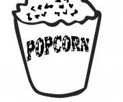 Coloriage et dessins gratuit Popcorn pour le film à imprimer