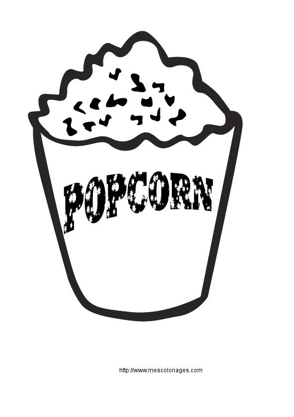 Coloriage et dessins gratuits Popcorn pour le film à imprimer