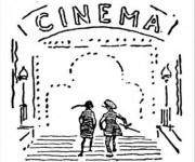 Coloriage et dessins gratuit Salle de Cinéma en ligne à imprimer