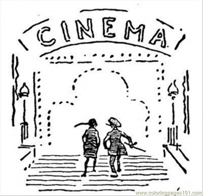 Coloriage et dessins gratuits Salle de Cinéma en ligne à imprimer