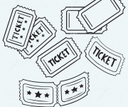 Coloriage Un Ticket pour Un film