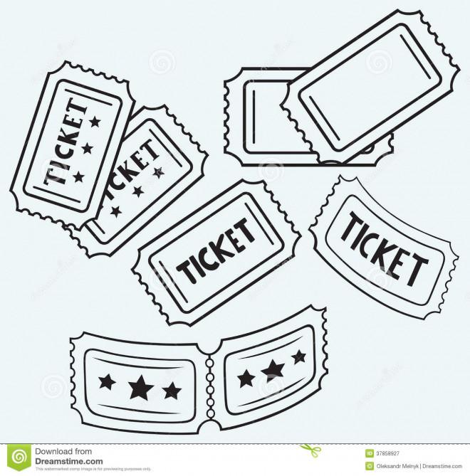 Coloriage et dessins gratuits Un Ticket pour Un film à imprimer