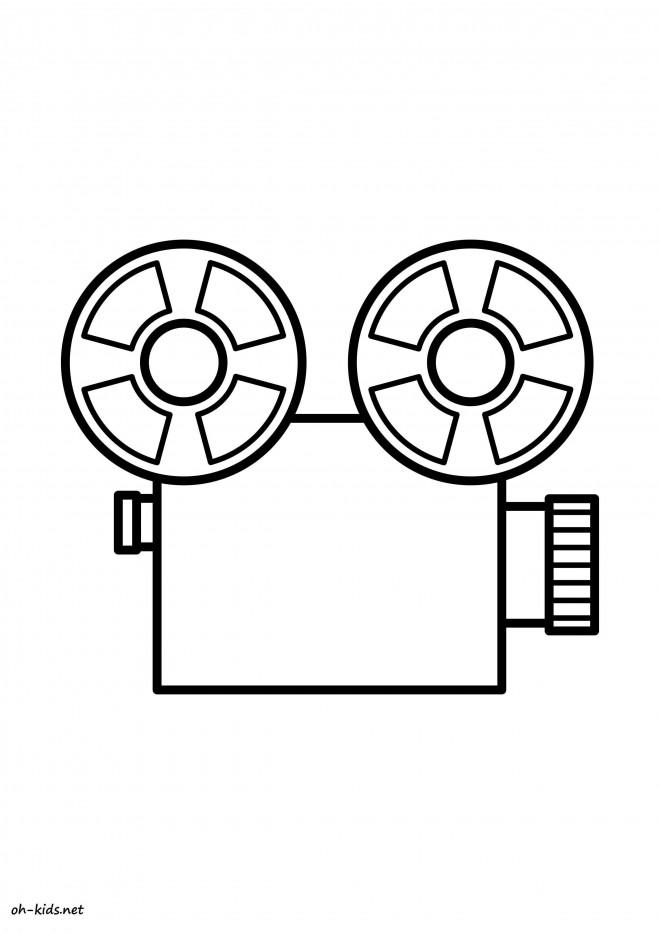 Coloriage et dessins gratuits Une Caméra facile à imprimer