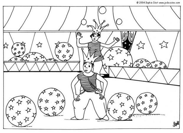 Coloriage Adulte Cirque.Coloriage Cirque Acrobate Dessin Gratuit A Imprimer