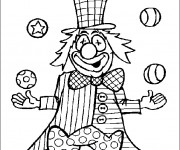 Coloriage Cirque Clown