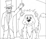 Coloriage et dessins gratuit Cirque en ligne à imprimer
