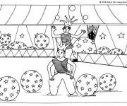 Coloriage Cirque Magicien 10