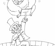 Coloriage Cirque Magicien 6