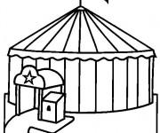 Coloriage et dessins gratuit Cirque stylisé à imprimer