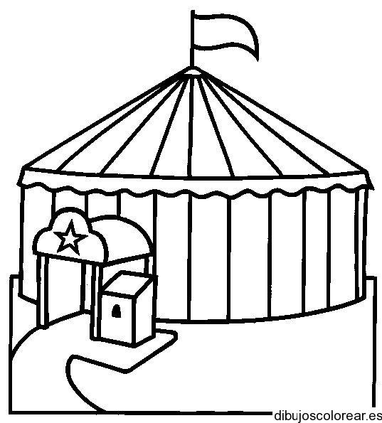 Coloriage et dessins gratuits Cirque stylisé à imprimer