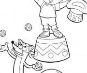 Coloriage Dora Magicienne de Cirque