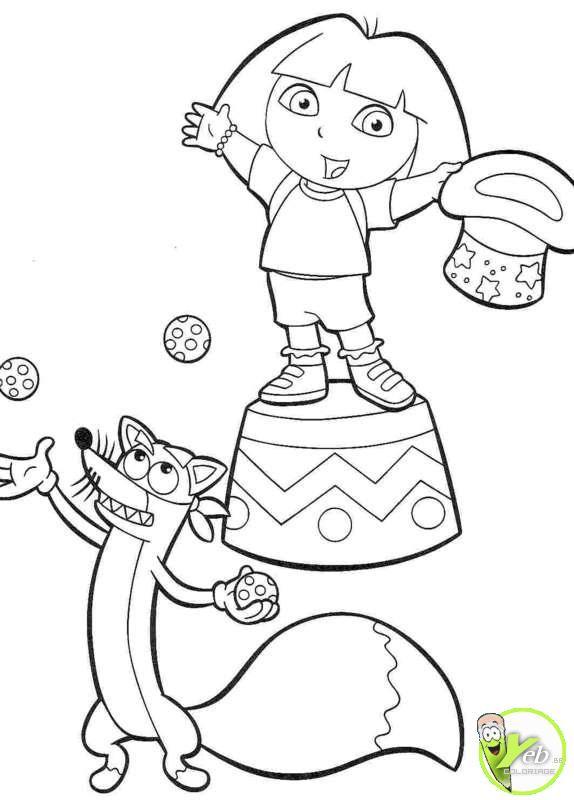 Coloriage et dessins gratuits Dora Magicienne de Cirque à imprimer