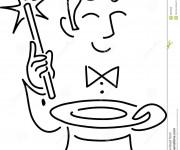 Coloriage et dessins gratuit Le Magicien à découper à imprimer
