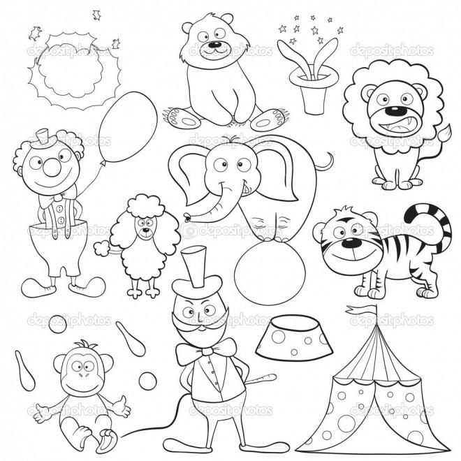 Coloriage et dessins gratuits Les Animaux de Cirque couleur à imprimer