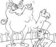 Coloriage et dessins gratuit Les animaux de Cirque humoristiques à imprimer