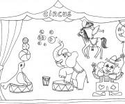 Coloriage et dessins gratuit Animaux du Cirque à imprimer