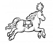 Coloriage Cheval de Cirque à colorier