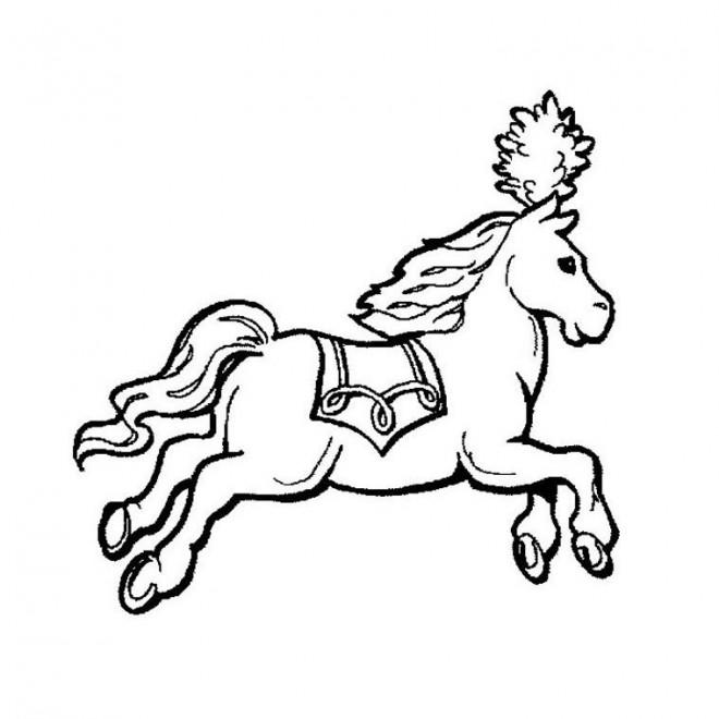 Coloriage et dessins gratuits Cheval de Cirque à colorier à imprimer