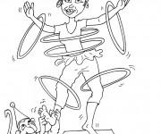 Coloriage Cirque Acrobate comique