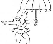 Coloriage Cirque Acrobate féminine