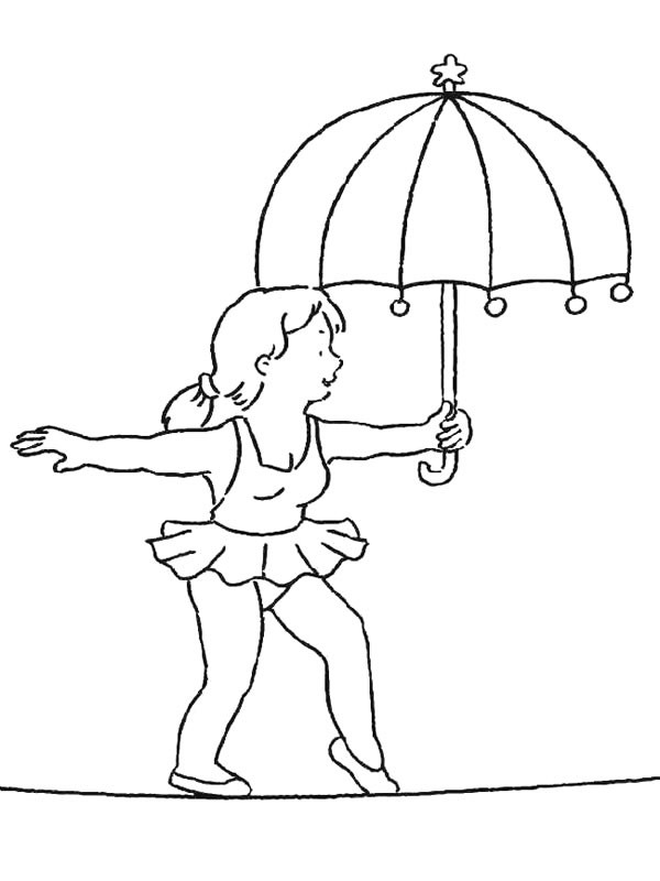 Coloriage et dessins gratuits Cirque Acrobate féminine à imprimer