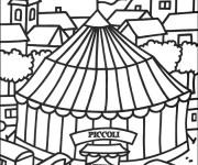 Coloriage et dessins gratuit Cirque Chapiteau à imprimer