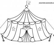 Coloriage et dessins gratuit Cirque Chapiteau maternelle à imprimer