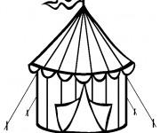 Coloriage et dessins gratuit Cirque Chapiteau miniature à imprimer