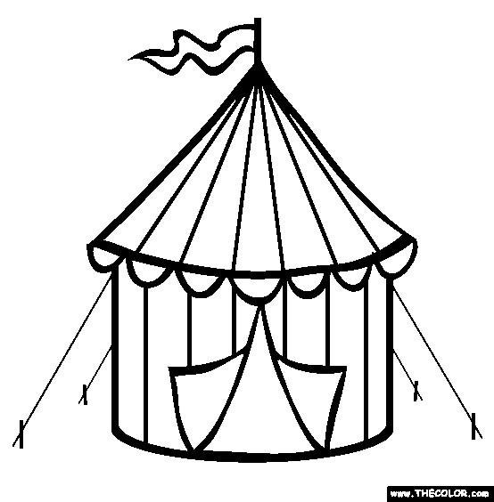 Coloriage et dessins gratuits Cirque Chapiteau miniature à imprimer