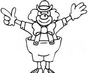 Coloriage et dessins gratuit Cirque Clown facile à imprimer