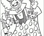 Coloriage Cirque Clown humoristique