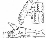 Coloriage et dessins gratuit Cirque Dompteur des Tigres à imprimer