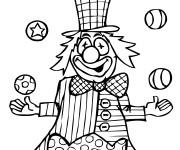 Coloriage et dessins gratuit Cirque Jongleur à imprimer