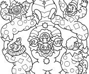 Coloriage et dessins gratuit Cirque Jongleur en couleur à imprimer