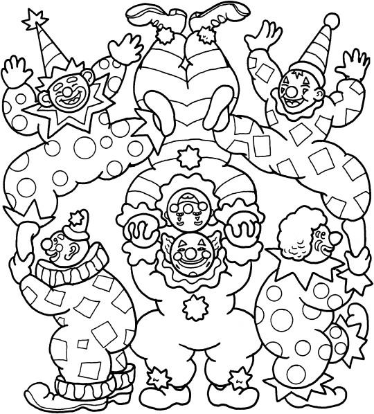 Coloriage Cirque Jongleur En Couleur Dessin Gratuit à Imprimer