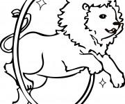 Coloriage Cirque Le Show de Lion