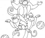 Coloriage Cirque Les Singes