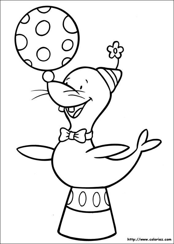 Coloriage et dessins gratuits Cirque Phoque à imprimer