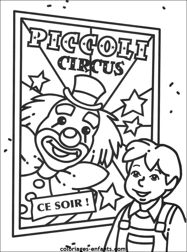 Coloriage et dessins gratuits Cirque Piccoli Italien à imprimer