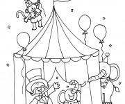 Coloriage Cirque pour Les Enfants