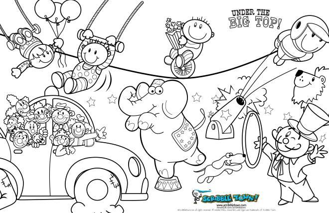 Coloriage et dessins gratuits Cirque simple et facile à imprimer