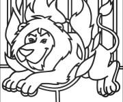 Coloriage et dessins gratuit Cirque Spectacle de Lion à imprimer