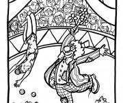 Coloriage et dessins gratuit Cirque Téléspectateurs amusés à imprimer