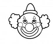 Coloriage et dessins gratuit Cirque Tête de Clown à imprimer